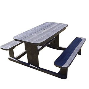 Denny Picnic Table with Rounded Corners
